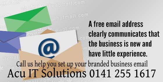 using free email for business?