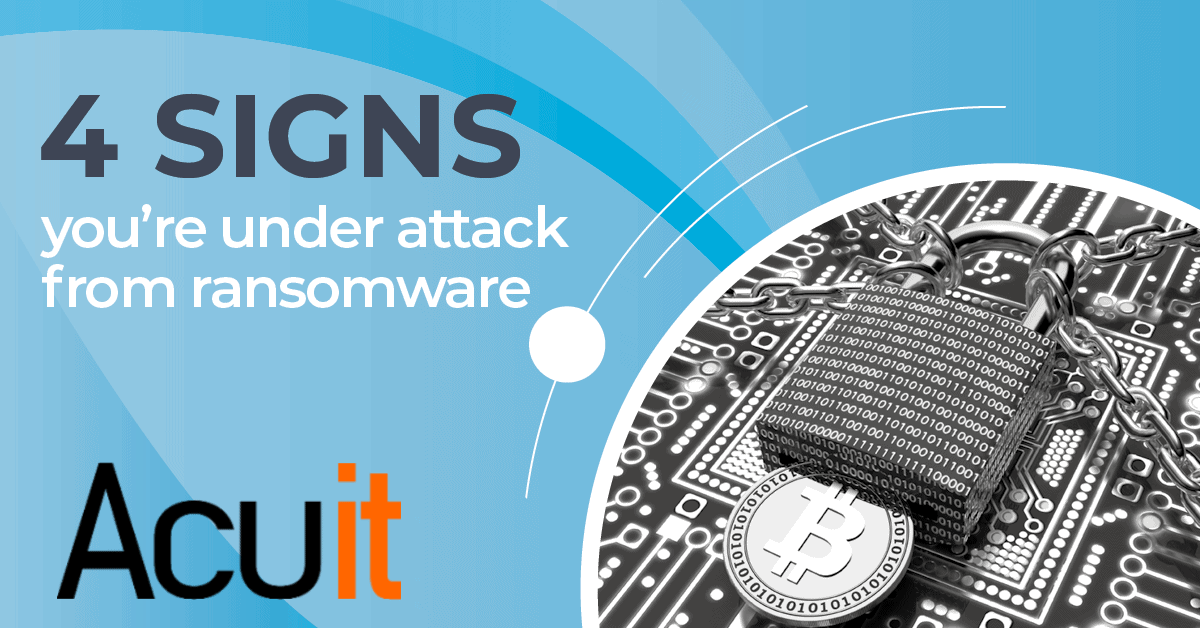 4 signs of ransomware attack on your business
