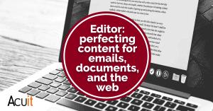 Microsoft Editor perfect content creation tool