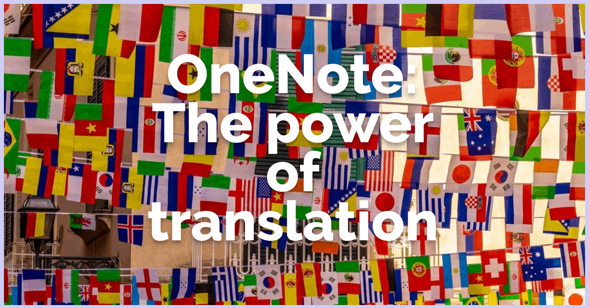 OneNote-The power of translation