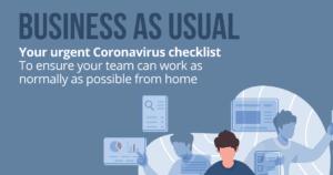 coronavirus checklist allow staff to work from home