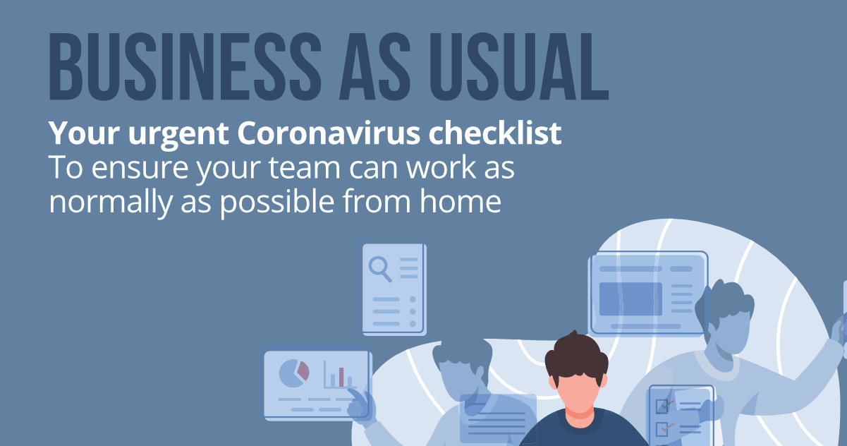 coronavirus checklist allow staff to work from home