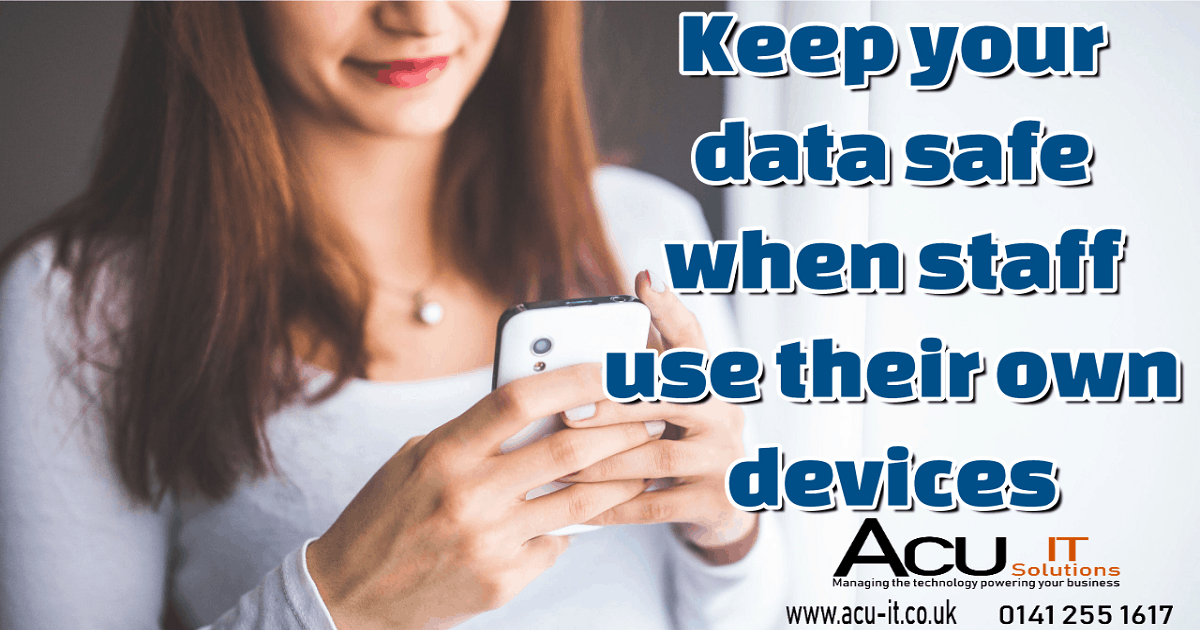 keep your data safe when staff working from home
