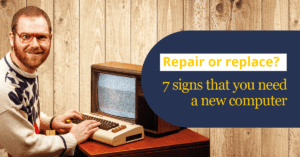 repair or replace signs need a new pc