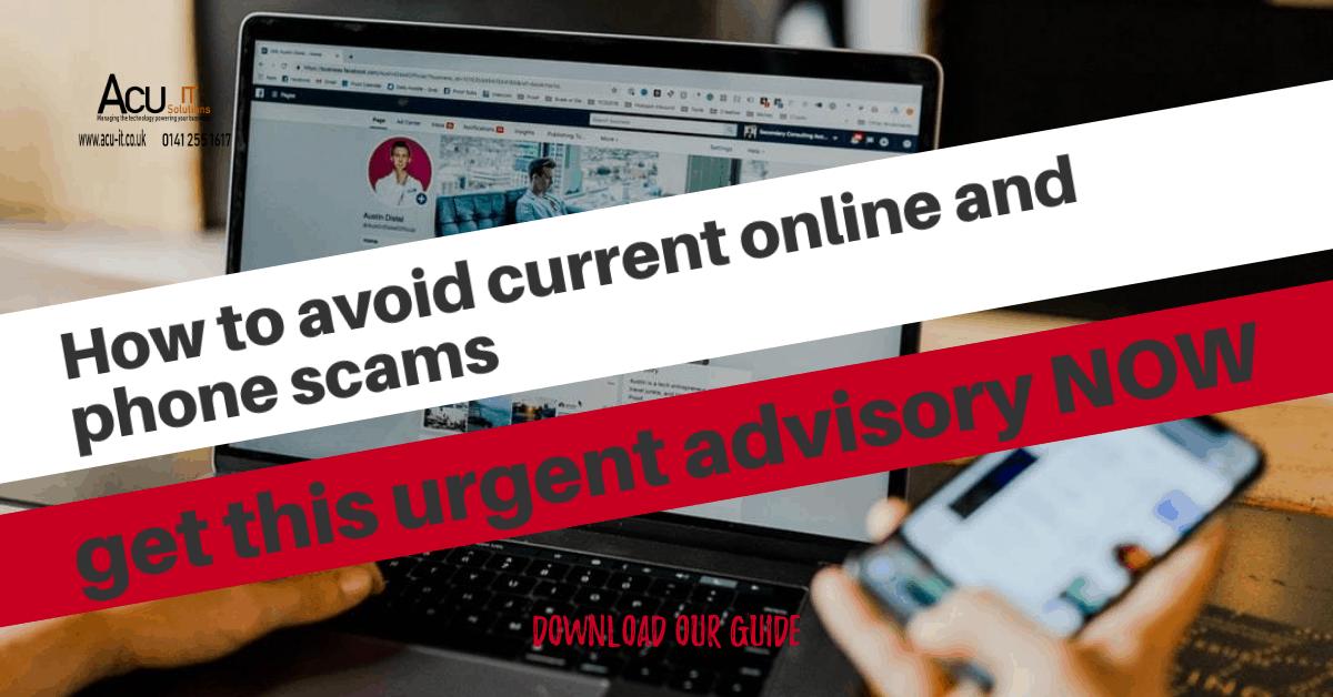 scams advisory