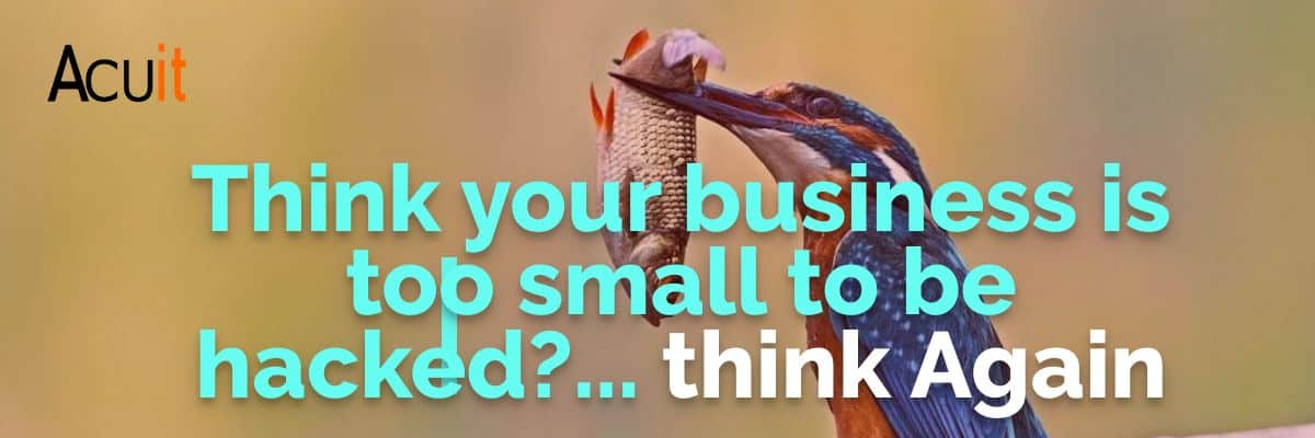 Think your business is too small to be hacked?... think Again
