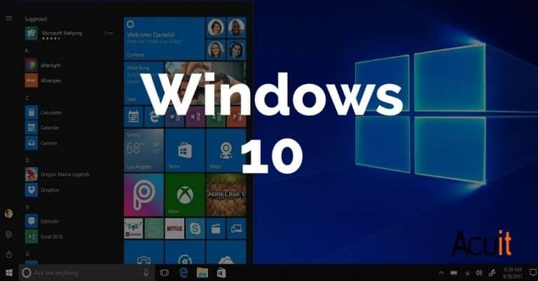 Microsoft win10